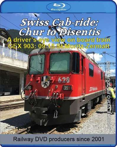 Swiss Cab-ride: Chur to Disentis 2019. Blu-ray