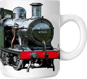 The Steam Mug Collection No4 - LMS Fowler Class 3F Jinty 0-6-0T No 47406 Locomotive