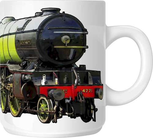 The Steam Mug Collection No7 - 4771 Green Arrow, LNER Class V2 2-6-2 steam locomotive