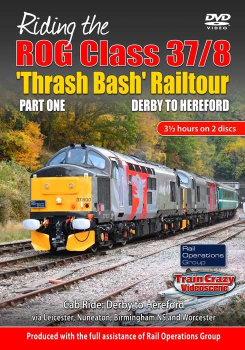 Riding the ROG Class 37-8 Thrash Bash Railtour - Part One - Derby to Hereford