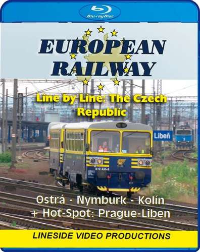 European Railway - Line by Line - The Czech Republic - Ostra-Nymburk-Kolin plus Hotspot - Prague-Liben - Blu-ray