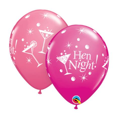 Hen party latex balloons