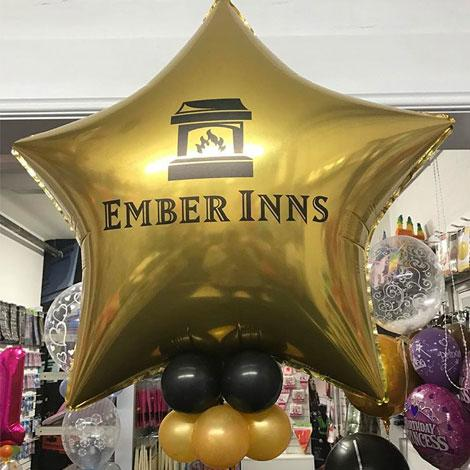 "Customised 36"" foil balloons"