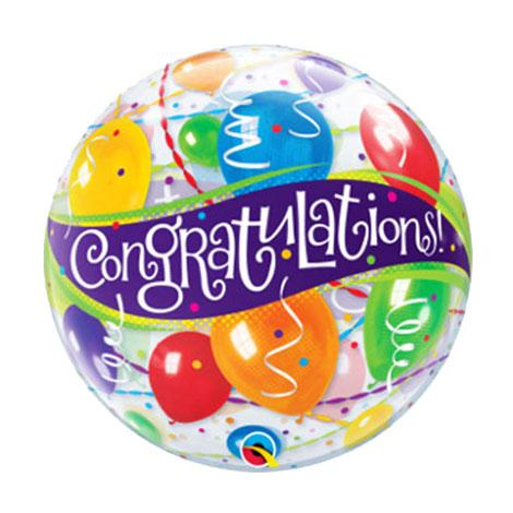 Congratulation bubble balloons