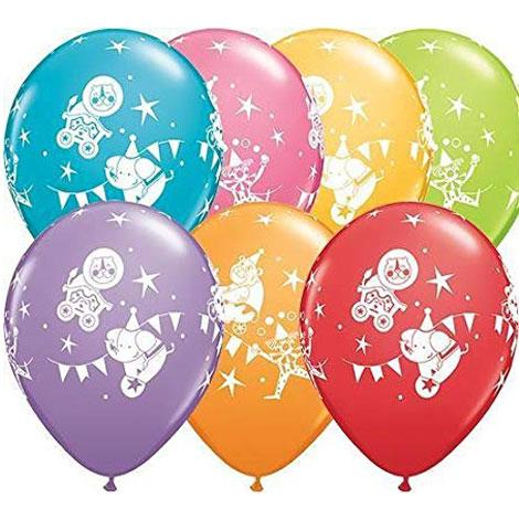 Children themed latex balloons