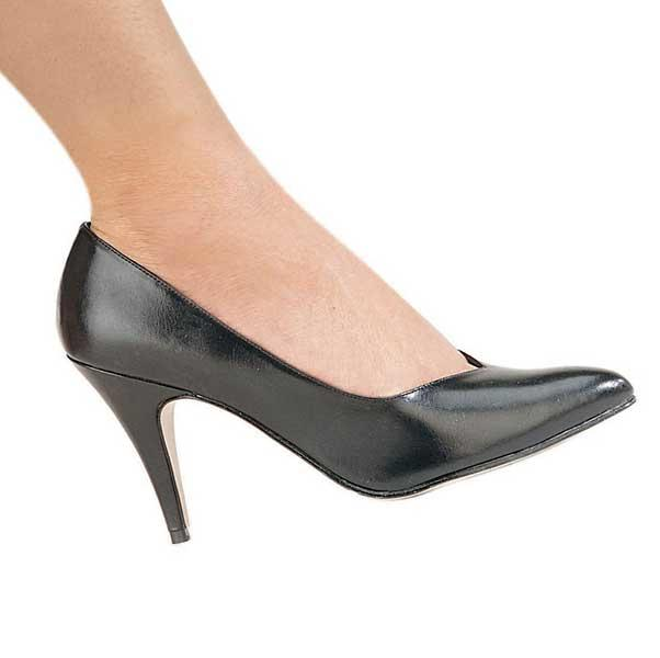Black Wide Fitting Court Shoe