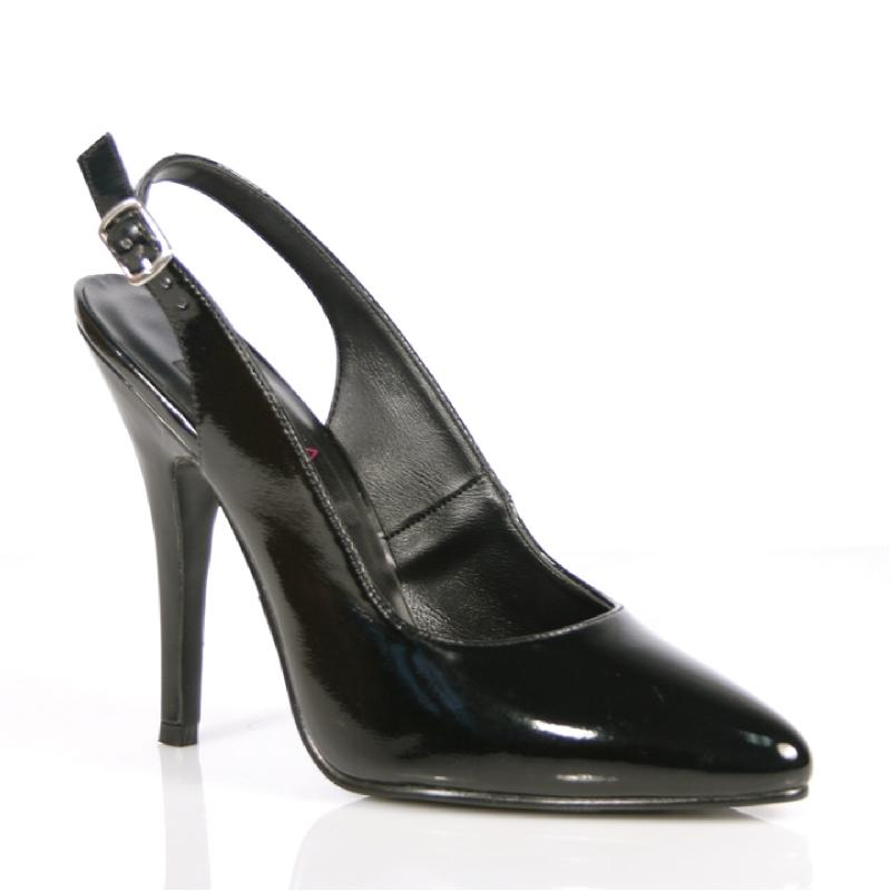 Black Patent Slingback Shoes
