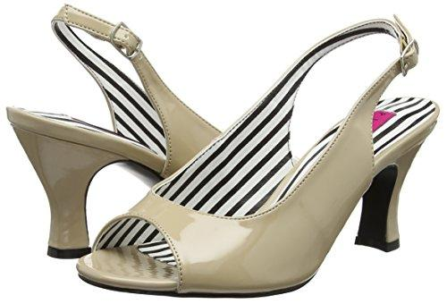 Cream Patent Jenna Slingbacks