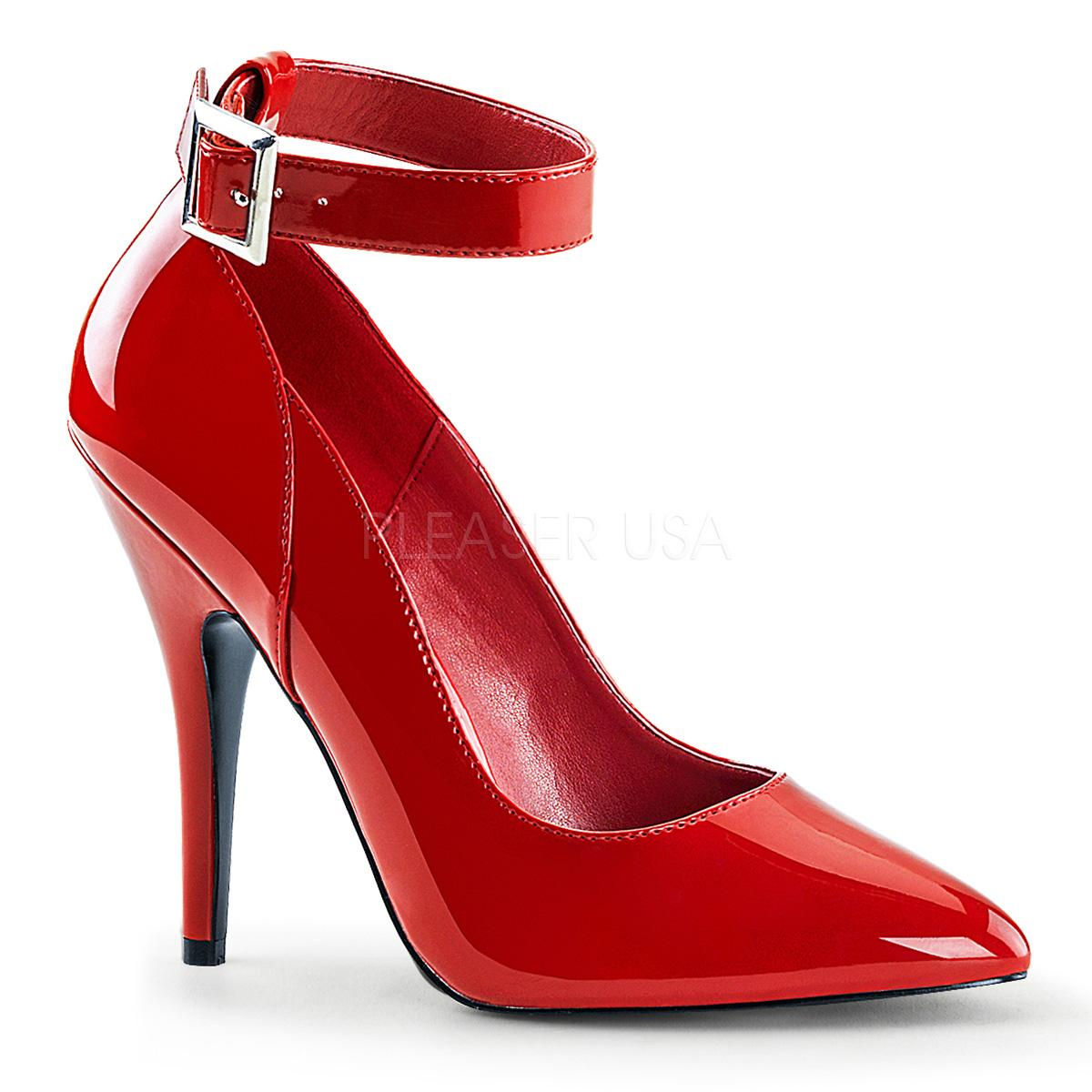 Red Patent Court Shoe