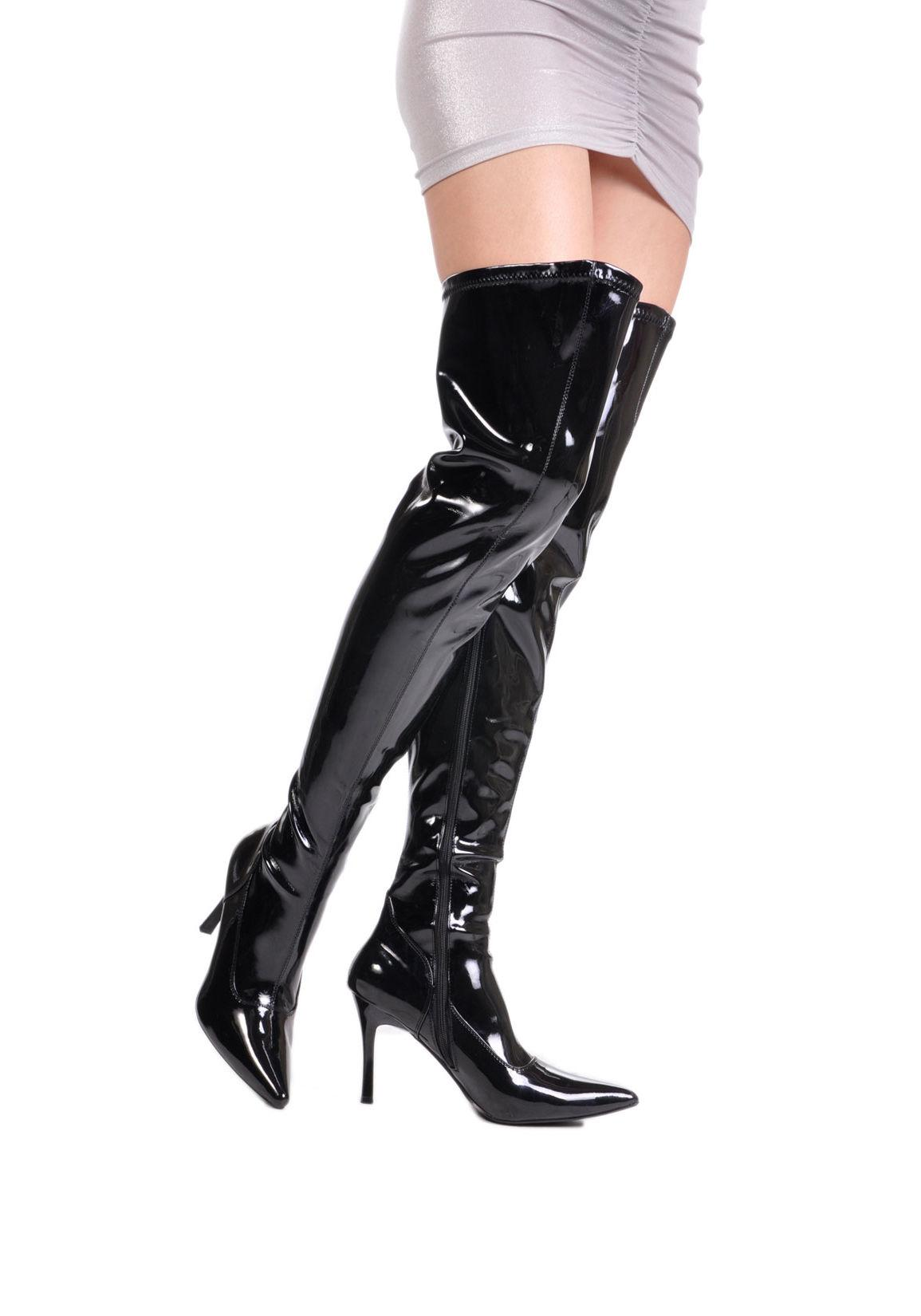 Wide fitting thigh boot