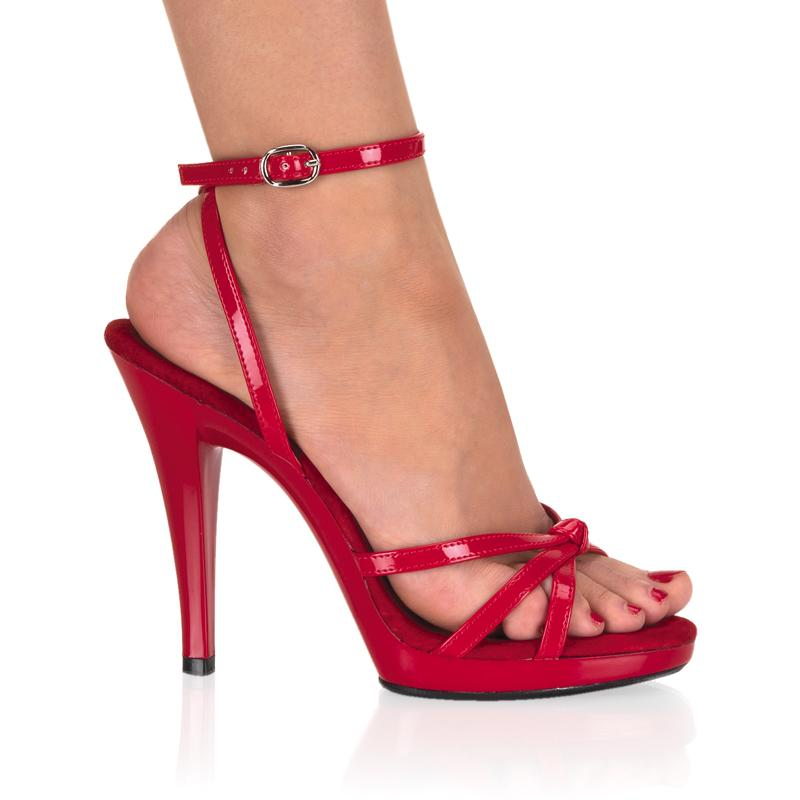 Red Open Toe Strappy Sandal