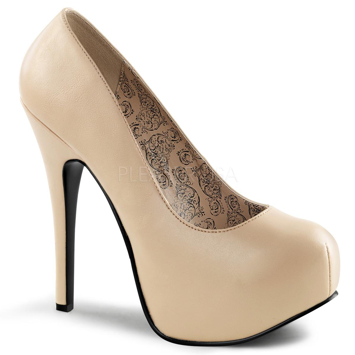 Cream PU Court Shoe