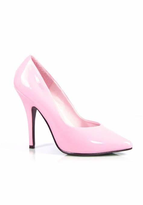 Baby Pink Patent Court Shoe