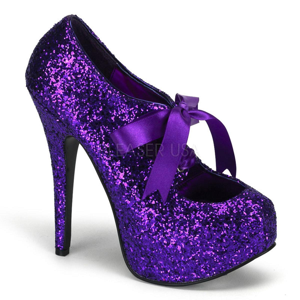 Purple Glitter Platform Shoe