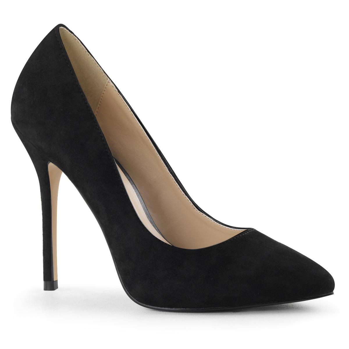 Premier Black Velvet Court Shoe