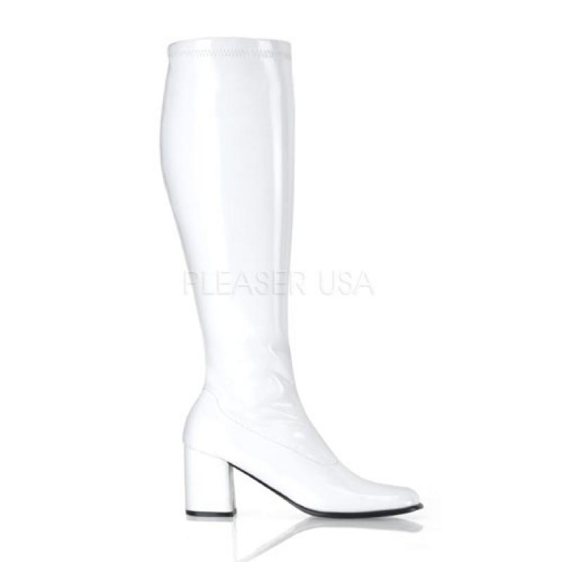 Wide White Matt Gogo Boot