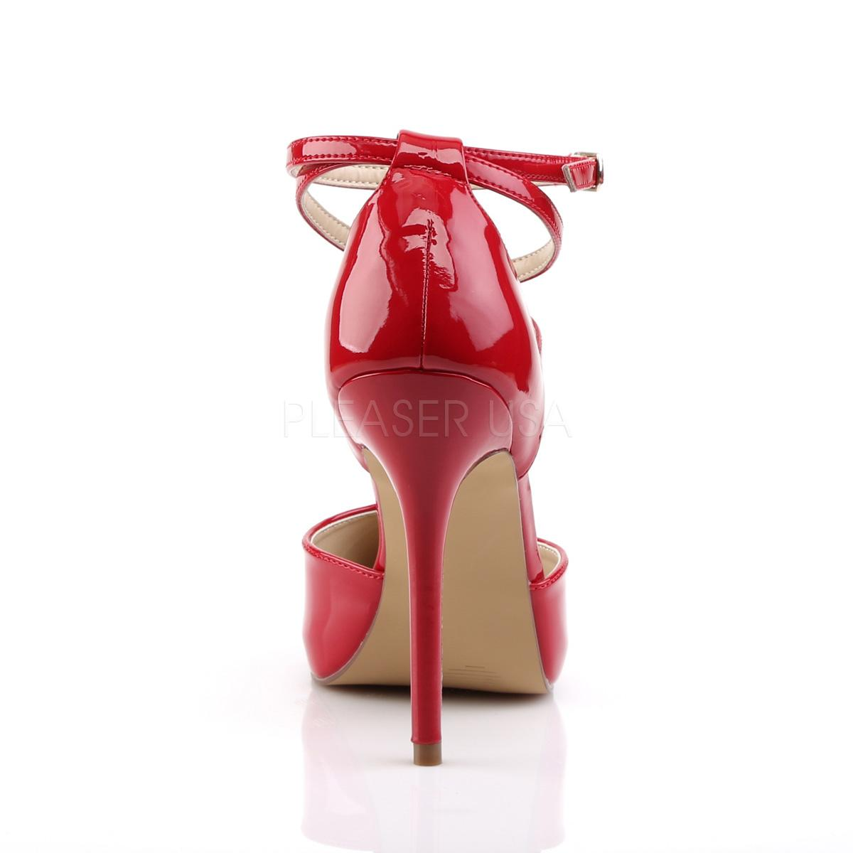 Red D'Orsay Shoe rear view