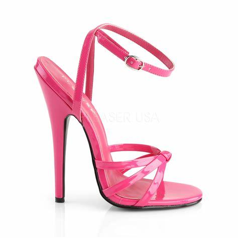 Hot Pink Ankle Strap Sandals