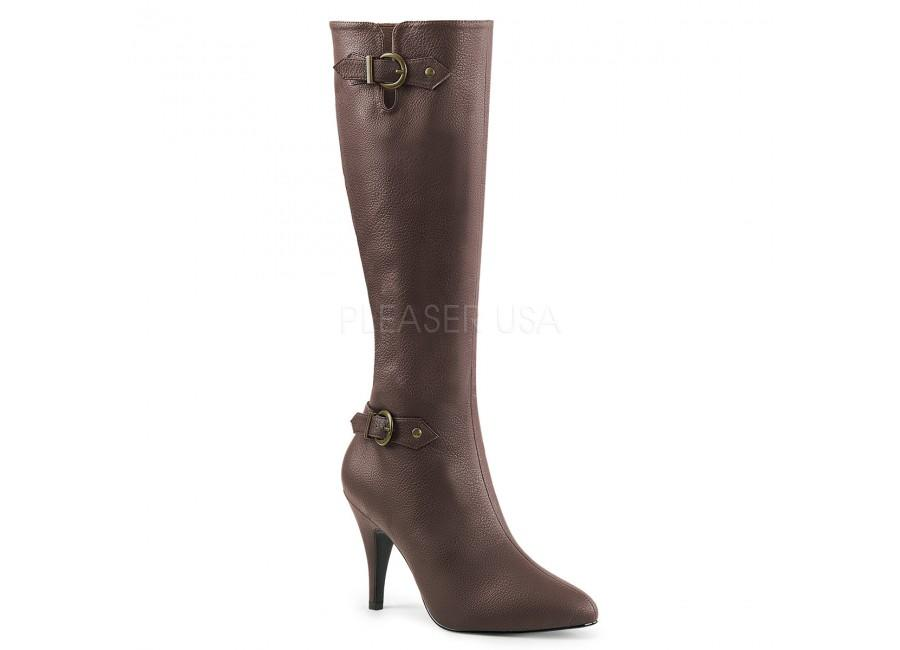 Brown Knee Boot outside view