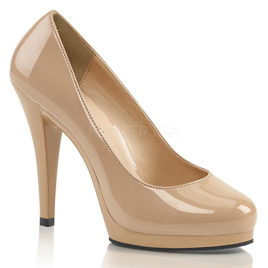 Cream Flair large Court Shoe