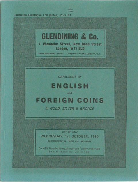 1 Oct, 1980  English and Foreign Coins.