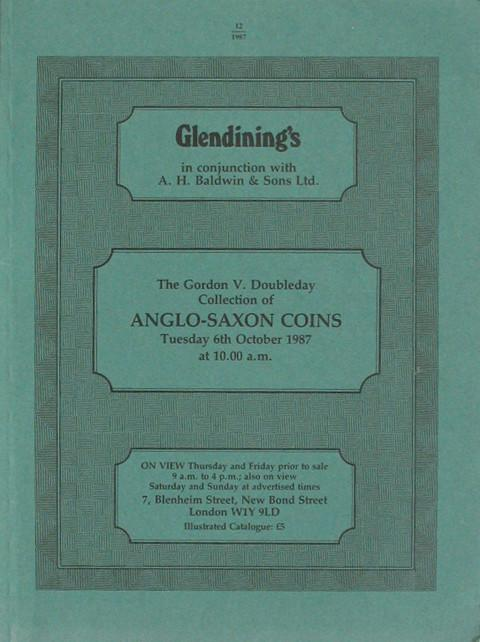 6 Oct, 1987 G V Doubleday Collection of Anglo-Saxon coins.