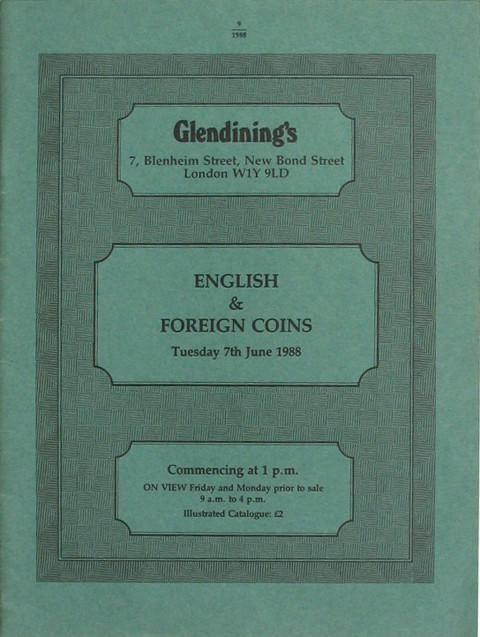 7 Jun, 1988  English and Foreign Coins.