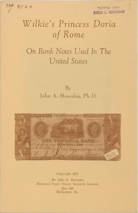 Wilkie's Princess Doria of Rome on Banknotes Used in The United States