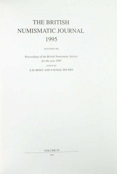 British Numismatic Journal 1995