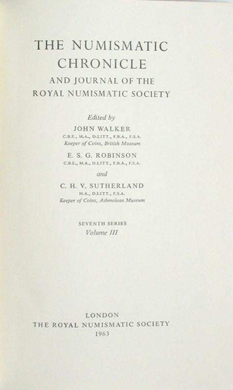 The Numismatic Chronicle 1963