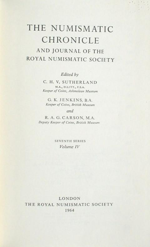 The Numismatic Chronicle 1964
