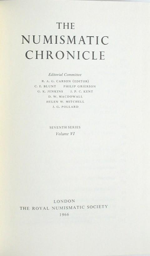The Numismatic Chronicle 1966