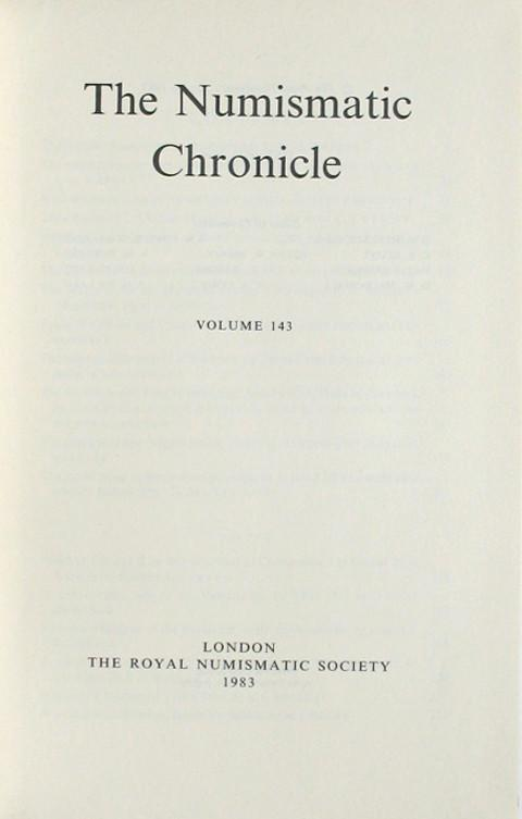 The Numismatic Chronicle 1983