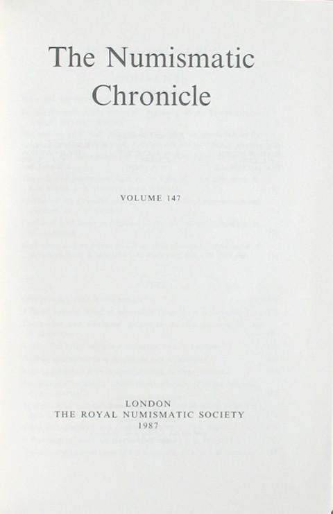 The Numismatic Chronicle 1987