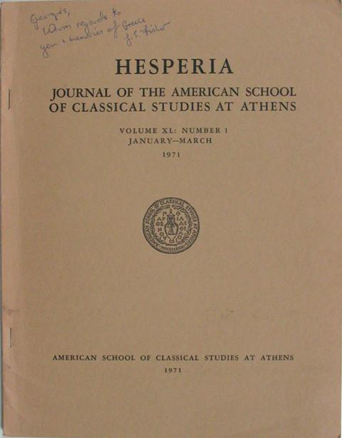 Hesperia.  Journal of the American School of Classical Studies at Athens.