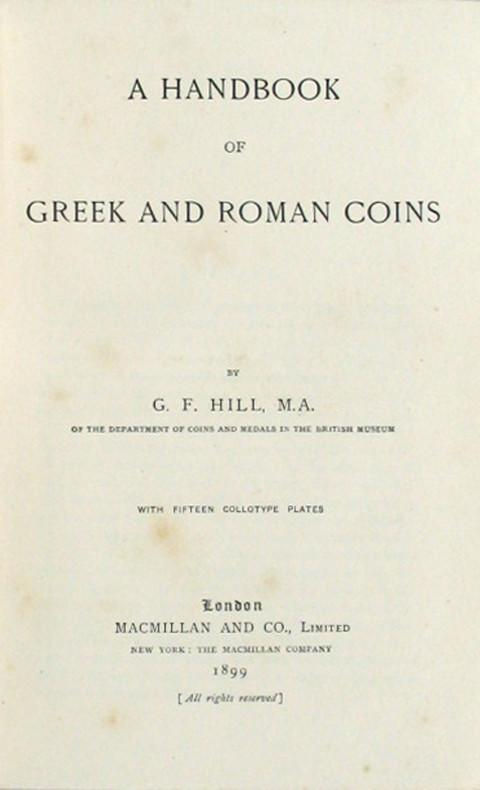 A Handbook of Greek and Roman Coins.