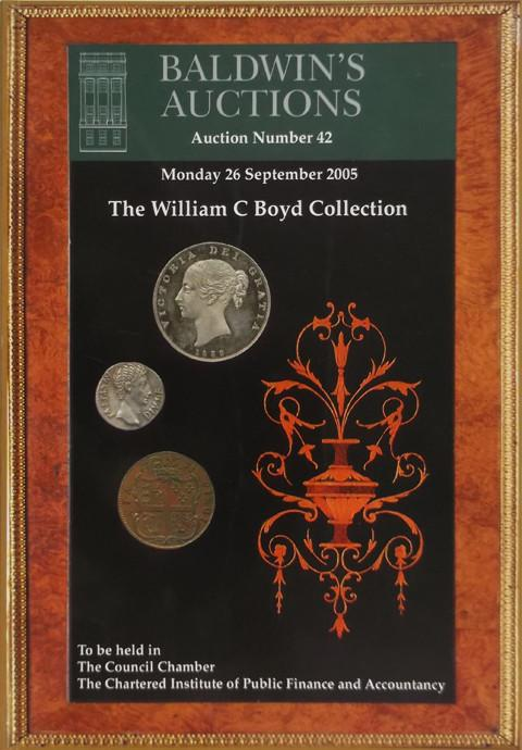 Baldwins Auctions.  No 42. 26 Sep 2005.  The William C Boyd collection.