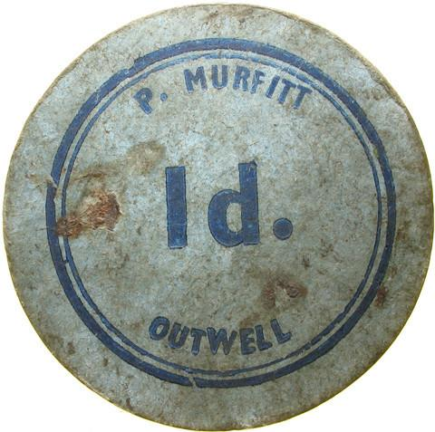 Farm token. P Murfitt, Outwell.