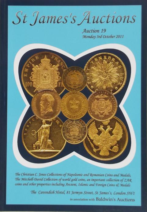 St James's Auctions  19.  Napoleonic Coins and Medals, Romanian coins and Medals. World Gold, Indian Coins, Islamic coins.