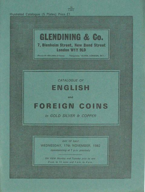17 Nov, 1982  English and Foreign Coins.
