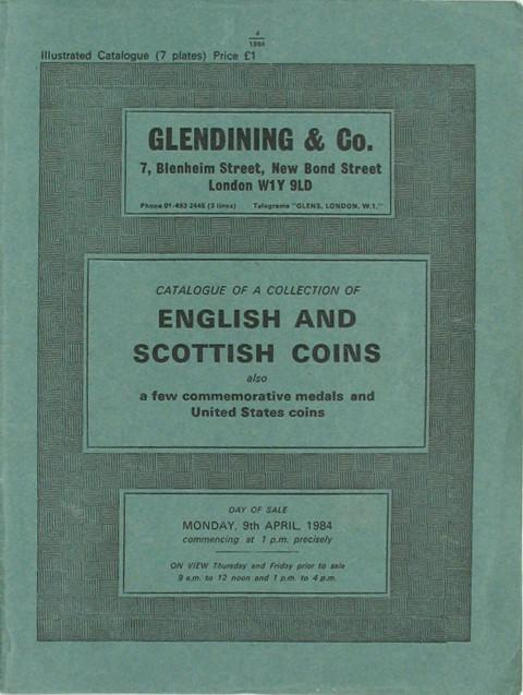 9 Apr, 1984  The J W Spurway collection of English and Scottish coins