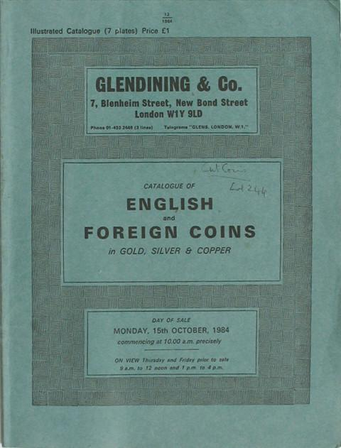 15 Oct, 1984  English and Foreign coins.