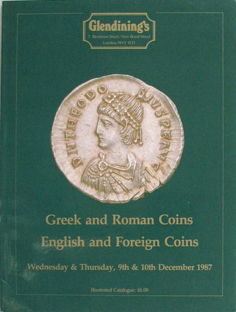 9 Dec, 1987 Greek and Roman, English and Foreign coins.