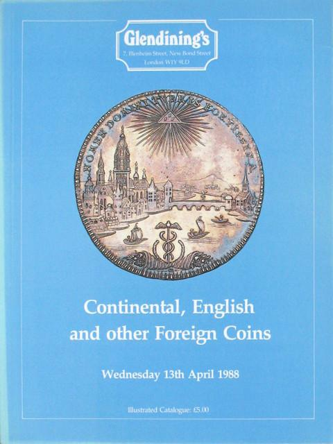 13 Apr, 1988  Continental, English and foreign coins,