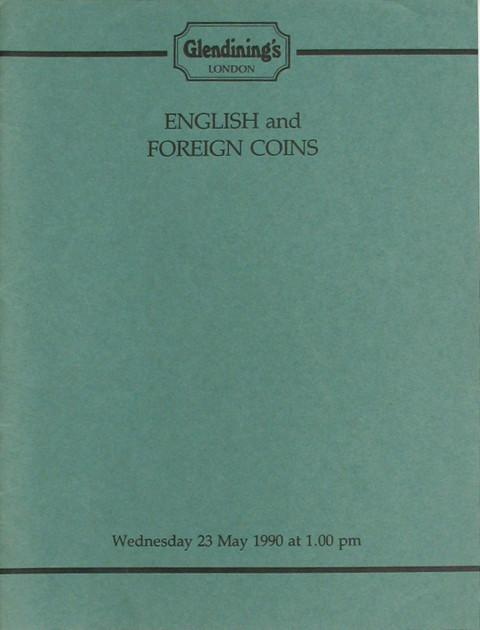 23 May, 1990   English and foreign coins.