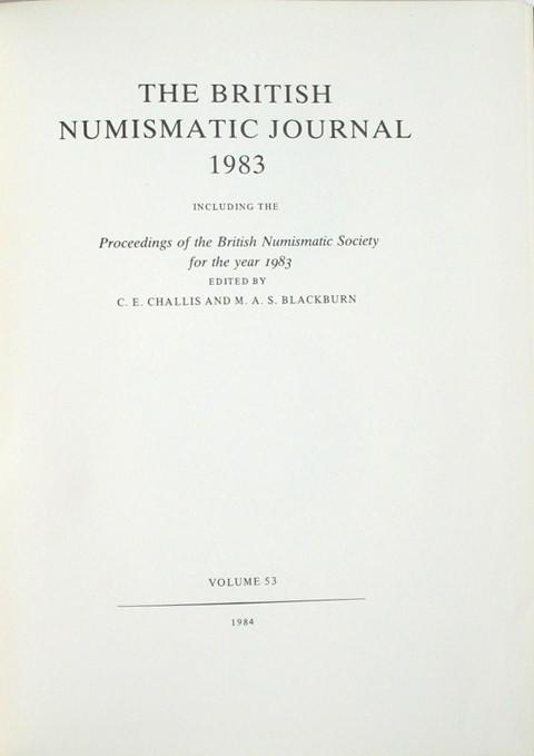 British Numismatic Journal 1983