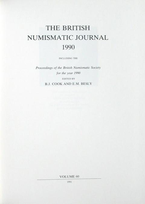 British Numismatic Journal 1990