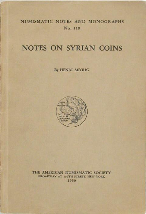 Notes on Syrian Coins