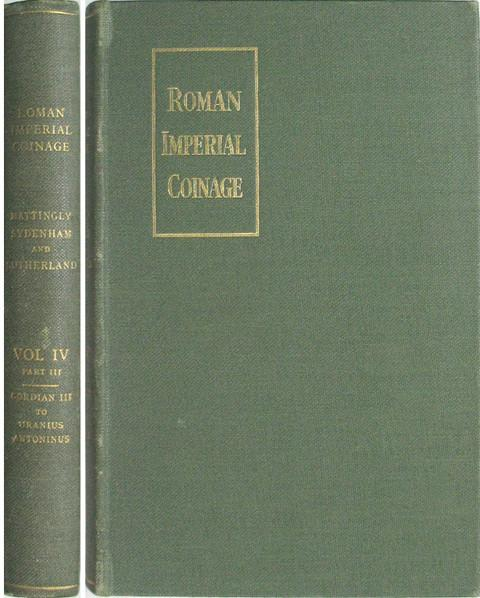The Roman Imperial Coinage (RIC). Vol IV Part III