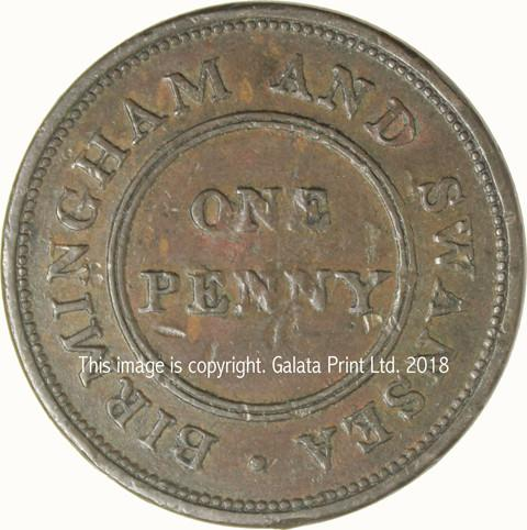 BIRMINGHAM, Rose Copper Company. Penny token 1811.